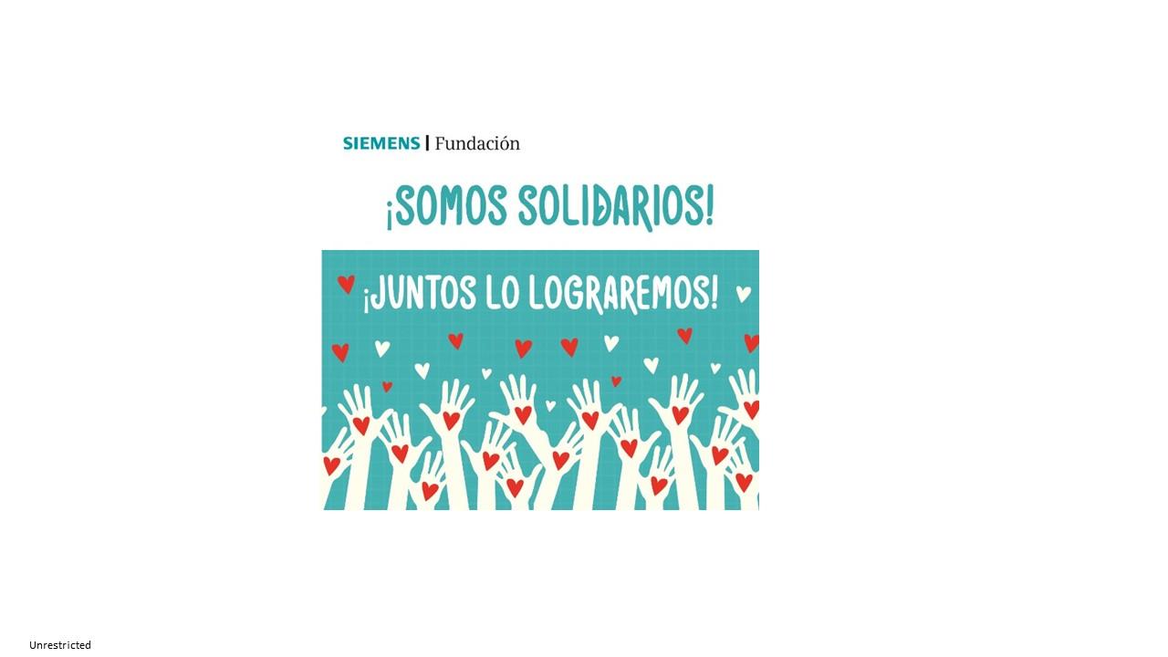 SOMOS SOLIDARIOS  campaña para entrega de mercados a los mas vulnerables en la crisis del COVID-19